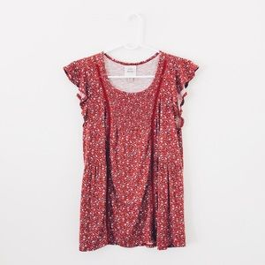 Knox Rose Floral Cut Out Detail Top